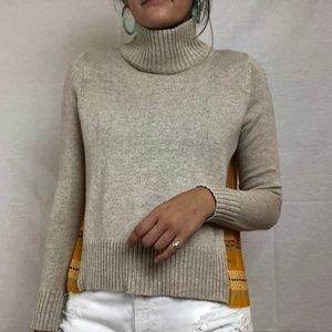 Anthro Silk Back Sweater